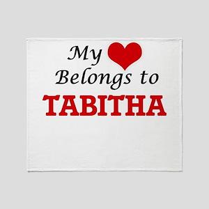 My heart belongs to Tabitha Throw Blanket