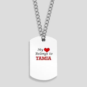 My heart belongs to Tamia Dog Tags