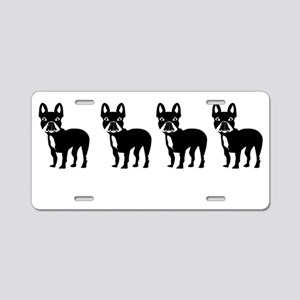 Four French Bulldogs Aluminum License Plate
