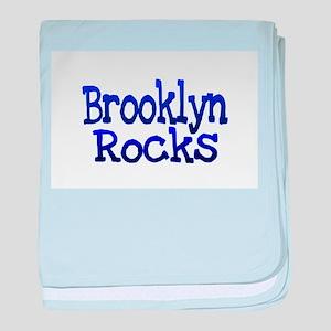 Brooklyn Rocks baby blanket