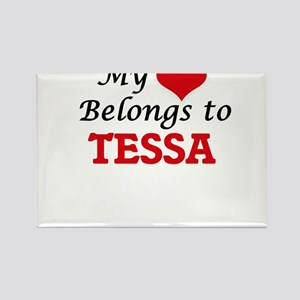 My heart belongs to Tessa Magnets