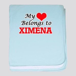 My heart belongs to Ximena baby blanket
