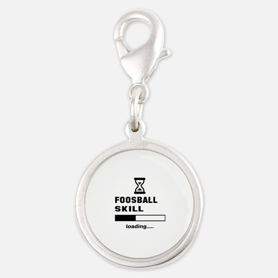 Foosball Skill Loading.... Silver Round Charm