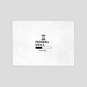 Foosball Skill Loading.... 5'x7'Area Rug