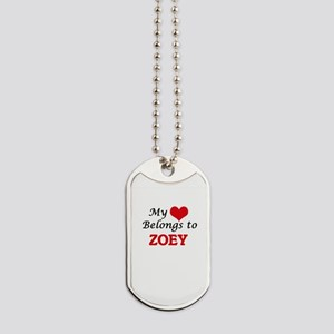 My heart belongs to Zoey Dog Tags