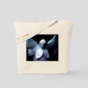 praying cemetery angel Tote Bag
