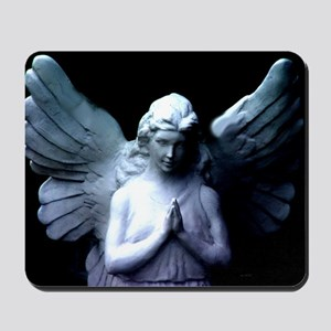 praying cemetery angel Mousepad