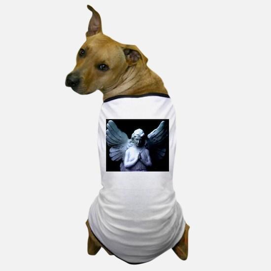 praying cemetery angel Dog T-Shirt