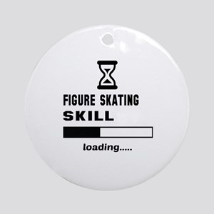 Figure Skating Skill Loading.... Round Ornament