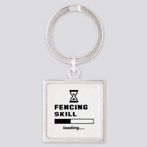 Fencing Skill Loading.... Square Keychain