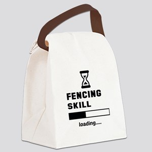 Fencing Skill Loading.... Canvas Lunch Bag