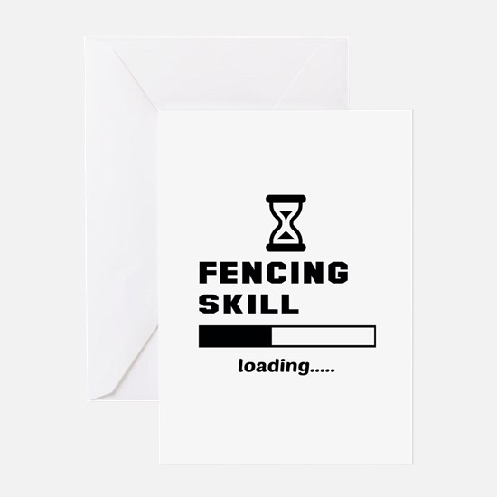 Fencing Skill Loading.... Greeting Card