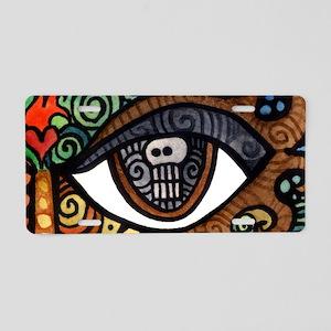 Skull Eye Aluminum License Plate