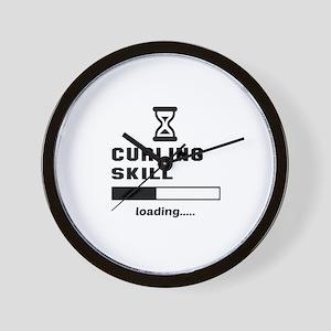 Curling Skill Loading.... Wall Clock