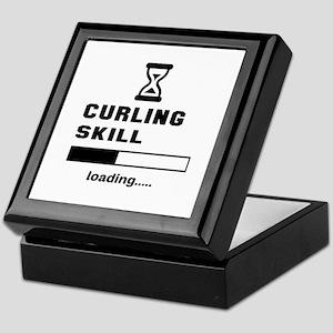Curling Skill Loading.... Keepsake Box