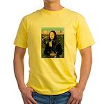 Mona / Gr Dane (bl) Yellow T-Shirt