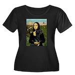 Mona / Gr Dane (bl) Women's Plus Size Scoop Neck D