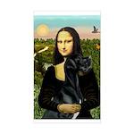 Mona / Gr Dane (bl) Sticker (Rectangle)
