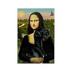 Mona / Gr Dane (bl) Rectangle Magnet