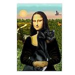 Mona / Gr Dane (bl) Postcards (Package of 8)