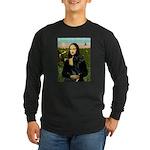 Mona / Gr Dane (bl) Long Sleeve Dark T-Shirt