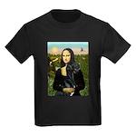 Mona / Gr Dane (bl) Kids Dark T-Shirt