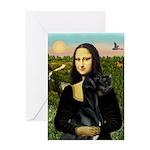 Mona / Gr Dane (bl) Greeting Card