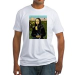 Mona / Gr Dane (bl) Fitted T-Shirt