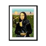 Mona / Gr Dane (bl) Framed Panel Print
