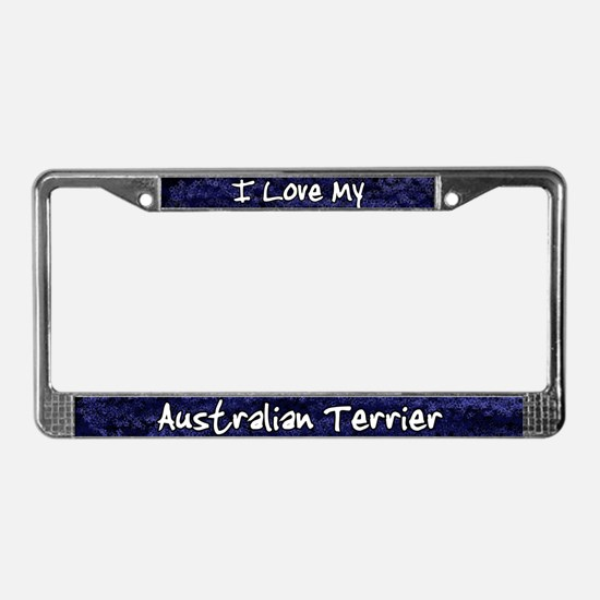 Funky Love Australian Terrier License Plate Frame
