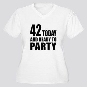 42 Today And Read Women's Plus Size V-Neck T-Shirt