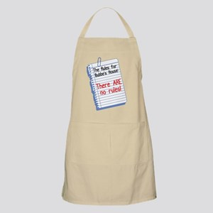 No Rules at Bubbe's House BBQ Apron