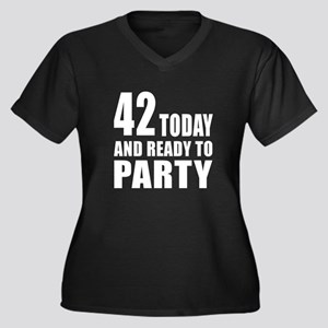 42 Today And Women's Plus Size V-Neck Dark T-Shirt