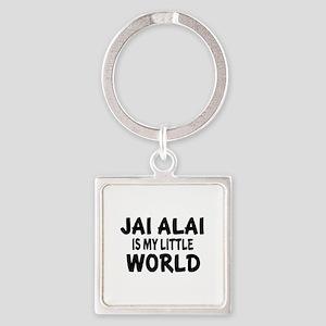 Jai Alai Is My little World Square Keychain