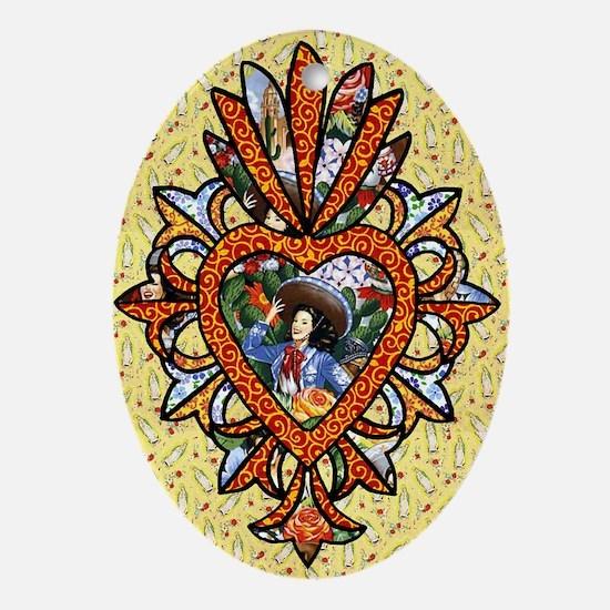 Beautiful Maria Oval Ornament