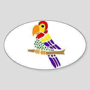 Funny Parrot Art Sticker