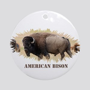 American Bison Round Ornament