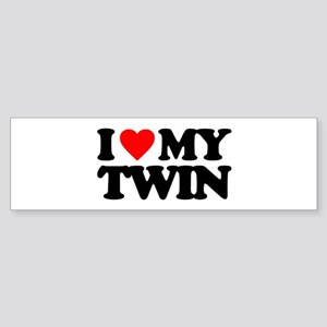 I LOVE MY TWIN Sticker (Bumper)
