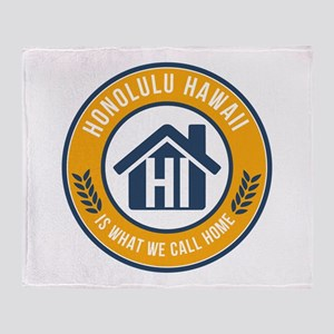 State of Hawaii Gifts - Is What We Call Home Throw