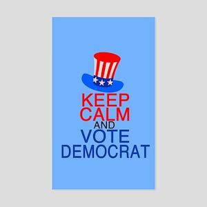 Democrat Keep Calm Sticker (Rectangle)