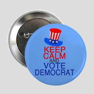 "Democrat Keep Calm 2.25"" Button"