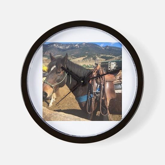Cute Kentucky mountain saddle horse Wall Clock