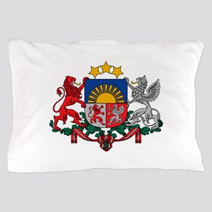 Coat of arms of Latvia - Latvijas gerb Pillow Case