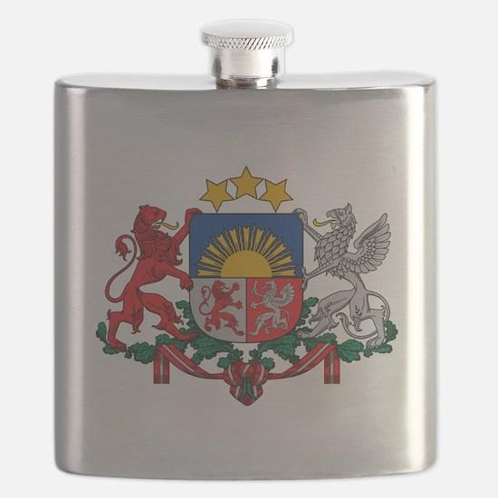 Coat of arms of Latvia - Latvijas gerbonis Flask