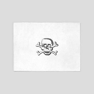 SkullFindEdges 5'x7'Area Rug