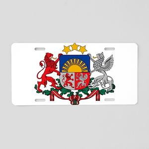 Coat of arms of Latvia - La Aluminum License Plate