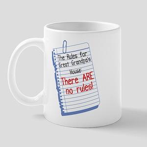 No Rules at Great Grandpa's House Mug