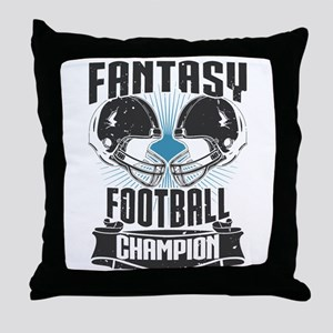 Fantasy Football Champion Throw Pillow