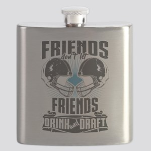 Friends Dont Let Friends Drink And Draft Flask