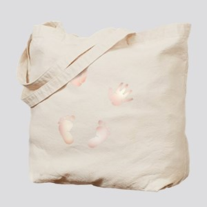 Cute Baby Hand and Feet Prints Tote Bag